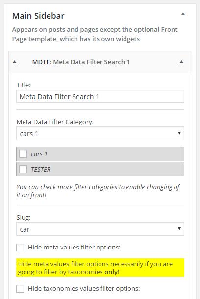 Step-by-step - MDTF - WordPress Meta Data Filter & Taxonomies Filter